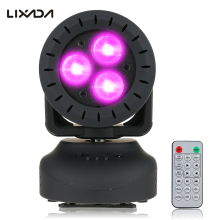 Lixada 15W Mini Laser Stage Light 3 Leds Rgbw Beam Moving Head Light Wash Effect Stage Lamp Sound Activation Ir Remote Control