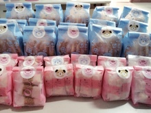 50&100pcs/lot  Rabbit and bear Cookie Bag Bread bag Gift Candy Package Cellphone Bags Jewelry bags Send for Children Baking Gift