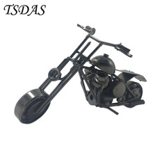 Lovely Mini Metal Motorcycle Model With Black Coating Iron Motorcycle Models Toy Boys Gifts Wheel Can Be Moved