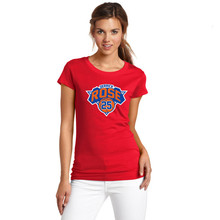Women 2017 fashion Derrick Rose New York 25 lady king T Shirt 100% cotton short sleeve girl T-shirt 1018-5