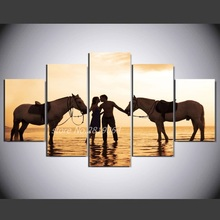 Buy 2017 Real New Modern Unframed Combined Hd Painting 5 Piece Wall Art Room Decor Picture Canvas Free Framed W / 112 for $7.21 in AliExpress store