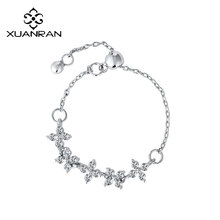 XUANRAN Crystal Flower Adjustable Ring For Women Female Silver/Rose Gold Rings Fashion Jewelry 2017 Hot Sell Brand Design(China)