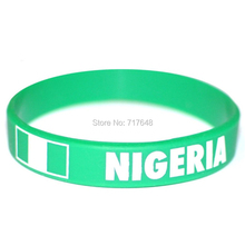 200pcs Nigeria wristband silicone bracelets rubber cuff wrist band bangle free shipping by FEDEX(China)