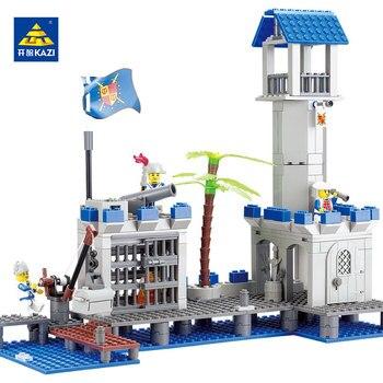KAZI Jouets Pour Enfant Blocs de Construction Briques Pirates Série Blocs Ensembles Éducation Jouets Pour Enfants De Noël brinquedos