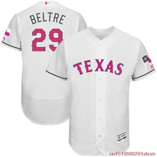 MLB Men's Texas Rangers Adrian Beltre #29 Baseball White Mother's Day Flex Base Jersey Beltre 29(China)
