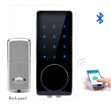 Bluetooth Electronic Door Lock APP Control, Password, Mechanical Key Touch Screen Keypad Digital Code Lock Smart Phone lk110BSAP