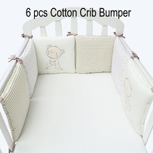 Buy Infant Crib Bumper Bed Protector Baby Kids Cotton Cot Nursery bedding 6 pcs Plush Bear Bumper Boy Girl for $24.96 in AliExpress store