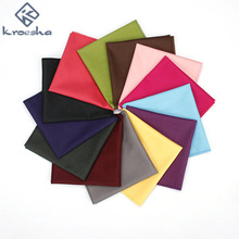 2017 Brand New Men's Suit Cotton Vintage Solid Colorful Candy Color Pocket Squares Hanky For Men Fashion Handkerchief Hankies