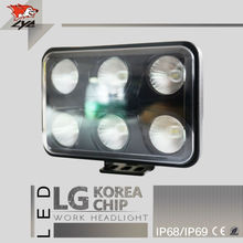 LYC Led Worklight For Agricultural Vehicles Led Police Promotion Truck accessories Different Light Pattern 4500LM 3000k 6000K