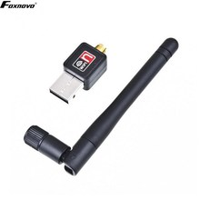 Foxnovo USB 2.0 Wlan Wifi Wireless LAN Dongle Adapter 150Mbit Antenne (Black with CD)(China)
