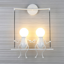 Children's Wall light Simple Creative Wall Of Modern Living Room Bedroom Hallway Stairs Balcony Lamps Bedside LED Lamp