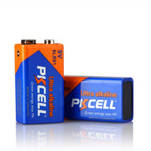 Top Quality 2 pcs 6LR61 alkaline battery Non-rechargeable dry battery 9 V single-use batteries-PKCELL