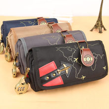 Boys Aircraft Pencil Case Canvas Pen Bag Pencil Bag Large Capacity Storage Bag Stationery School Supplies with Lock