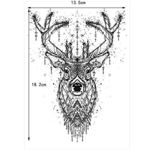 Beauty Body Temporary Tattoo KM-048 Elk Deer Pattern Women Men Flower Arm Leg Art Waterproof Tattoo Sticker Colored Drawing(China)