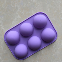 6 Even small semicircle silica pudding mold silicone cake mold soap mould chocolate mold round super Q expression silica gel