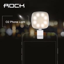 ROCK O2 Phone Light Mobile Phone Camera Flash Led light(China)