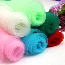 150CM*100CM Organza wedding dress gauze solid color yarn lace skirt summer clothes fabric Curtain Material fabric