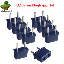 U.S.Brand high quality! 10 pcs US to EU Plug adaptor plug convertor plug adaptor Travel Adapter US to EU power plug convertor