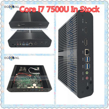 Eglobal 7Gen Fanless Mini PC Core i7 7500U Max 3.5GHz Intel HD Graphics 620 Micro Computer HTPC Mini Windows 10 Linux HDMI DP PC