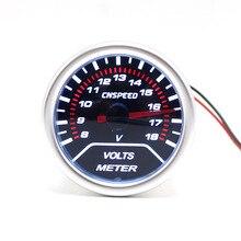 """Cnspeed 2 """"52 мм автомобиля вольт метр 8-18 В автомобиля метр Дым объектива автоматический датчик Напряжение датчик вольт Gauge красный иглы(China)"""