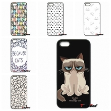 Funny Cute Cat Because Cats Hard Phone Case Cover For LG G2 G3 Beat G4 G4C G5 Mini L70 L90 K8 K10 V10 Nexus 4 5 6 6P 5X