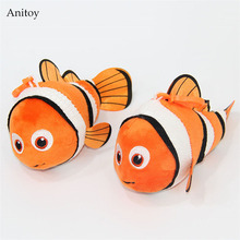 10pcs/lot Cartoon Finding Nemo Plush Dolls with Chain Stuffed Soft Toys Kids Gift Pendants 16cm AP0625