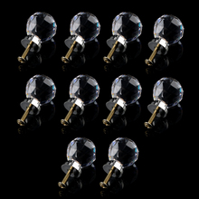 10 Pcs 20mm Glass Cabinet Knobs Drawer Pull Furniture Handle