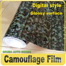 Green Urban Digital Camo Vinyl Camouflage Vinyl Truck Graphics Full Body Car Sticker 1.52*30m/roll