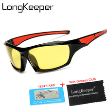 LongKeeper Yellow Polarized Sunglasses Men Night Vision Glasses Brand Designer Women Spectacles Car Drivers Goggles For Man(China)