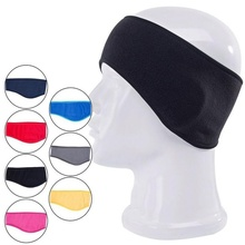 Fashion 1 PCS Men Women Unisex Winter Warm Fleece Headband Earband Stretchy Headband Earmuffs Ear Warmers(China)