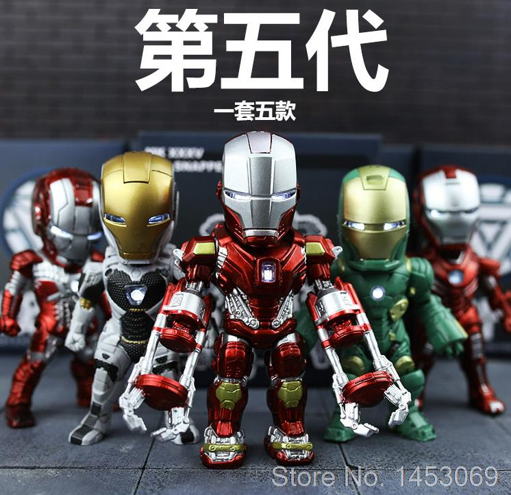 Iron Man MK 5 33 35 37 39 with Light Action figure Collectible Model Toys 5pcs/lot<br>