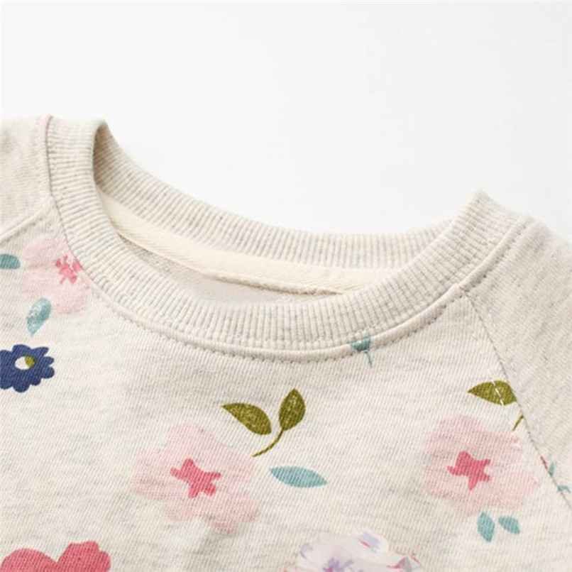 Long Sleeve Girls Tops Winter 2018 Baby GirlsTops And Tees Toddler Kids Baby Girls Floral Printed T-Shirt Tops and Blouses S14#F (6)