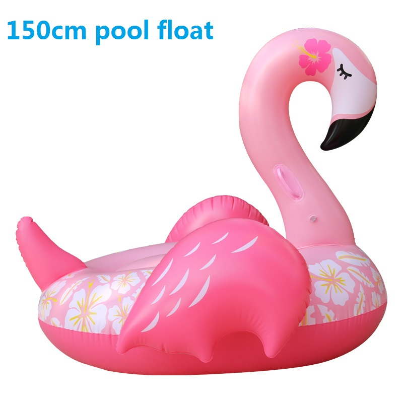 Pringting-flower-Inflatable-Flamingo-Swimming-Float-Tube-Raft-Adult-Kids-giant-pool-float-Swim-Ring-Summer -