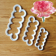 Petal Carnations Flower Fondant Cutter Decorating Sugarcraft Gum Paste Tools Cupcake Kitchen Cookie Accessories 3pcs/set A1147(China)