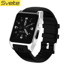 Svelte X86 Bluetooth Smart Watch Android 4.4.2 Camera 30W Support 3G WIFI Single SIM Card Heart Rate Smartwatch relogio(China)