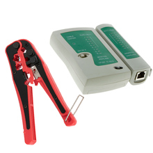 RJ45 RJ11 RJ12 CAT5 UTP LAN Cable Tester Network Tool+Portable Multifunctional Cable Wire Stripper Crimping Pliers Terminal Tool(China)