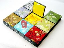 Wholesale  10PCS CHINESE HANDMADE SILK &WOOD Bracelet BOXES 9*9*3CM
