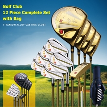 Men's Golf Club 12 Piece Complete Set with Bag(China)