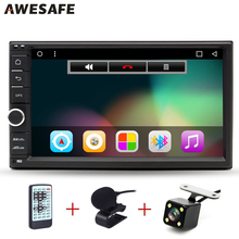 "AWESAFE 2 Din 7"" Car DVD Radio Player 1024*600 Android 6.0 Universal Car Tap PC Tablet 2 din For Nissan GPS Stereo Audio Player"