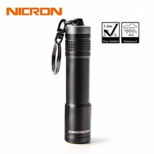 NICRON 1xAAA Mini Key Chain Flashlight 24M Beam Distance 0.5W 20LM LED Torch Waterproof IPX4 For Home For Household Outdoor N1(China)