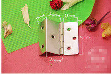Hardware supplies hinge silver hinge iron hinge 6 Hole seventy percent off right angle 22mm