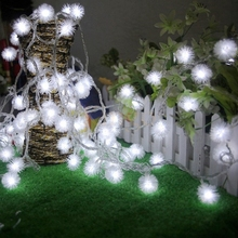 NEW 30m 300led Fairy string light Cotton Ball snow ball light Christmas New year Party Wedding livingroom Decoration 8colours
