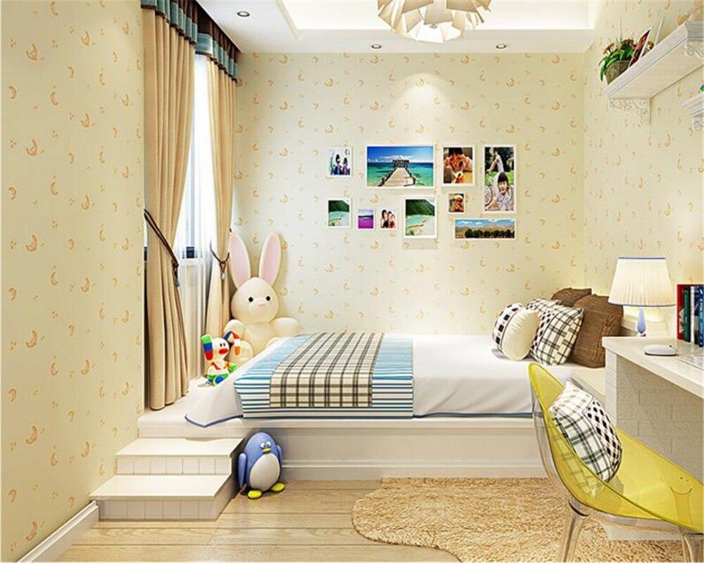 beibehang papel de parede Blue star moon boy girl bedroom non woven cartoon children room background wallpaper papier peint <br>