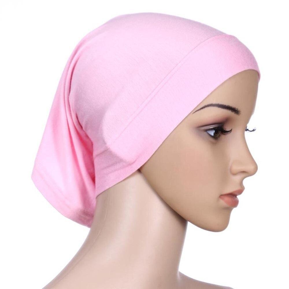 ROPALIA Women Fashion Islamic Hijab Cap Scarf Tube Bonnet Hair Wrap Female  Colorful Head Band 5