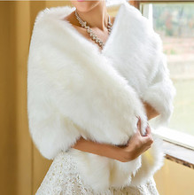 Hot Sale 2016 Cheap Wedding Jacket Bride Wraps Cape Winter Wedding Dress Wraps Bolero Mariage Fourrure Bridal Coat Accessories