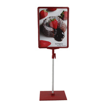 A4 frame with POP price ticket tag sign advertising poster holder display showing stand on shelf desktop console mode(China)