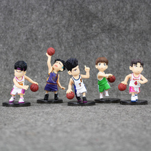 5pcs/lot Anime Slam Dunk PVC Figures Hanamichi Sakuragi Q Version Model Toys Dolls Collectible Brinquedos For Chilfren 7-10cm