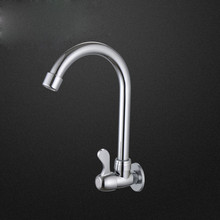 Free shipping single handle inwall mounted kitchen sink faucet with polished surface single cold kitchen sink water faucet