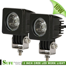 2PCS 2INCH 10W CREE LED WORK LIGHT 1000LM SPOT FLOOD FOR OFFROAD MOTORCYCLE BOAT 4x4 ATV SUV DRIVING LIGHT 12V24V