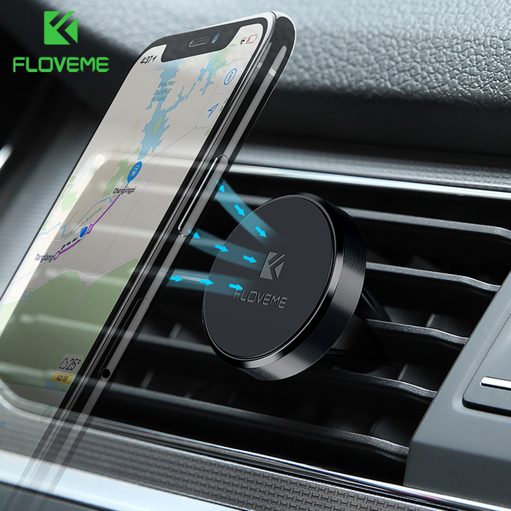 FLOVEME Magnetic Car Phone Holder 360 Rotation Air Vent GPS Mount Stand For Xiaomi mi8 Samsung Galaxy S9 Holder For Phone in Car